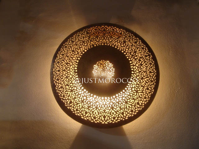 Moroccan copper sconce