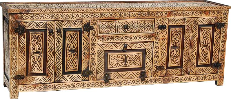 African tv cabinet