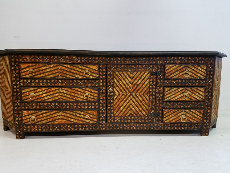 Royal bone inlay cabinet