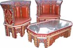 Mamounia painted living room set