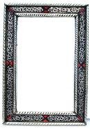 Marrakesh silver mirror