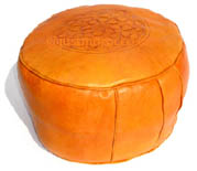 Moroccan orange pouf