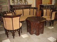 Inlay mother of pearl living room set