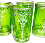 Green HennaTea glass